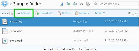 dropbox-get-link
