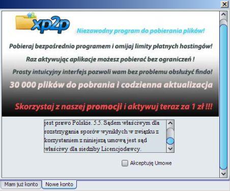 Instalacja programu xp2p
